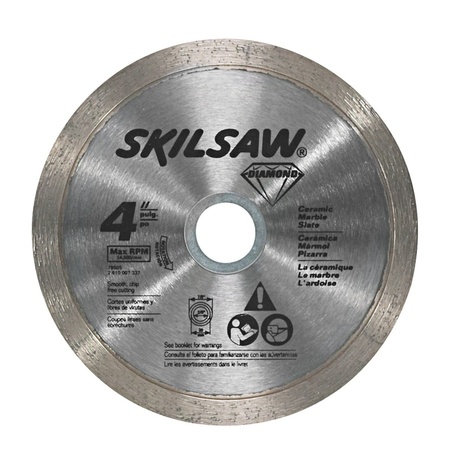 Skil 4-in Wet or Dry Continuous Diamond Circular Saw Blade