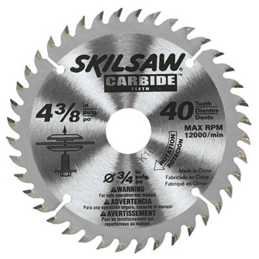 Shop skil 4 38 in 40 tooth carbide circular saw blade at lowes skil 4 38 in 40 tooth carbide circular saw blade greentooth