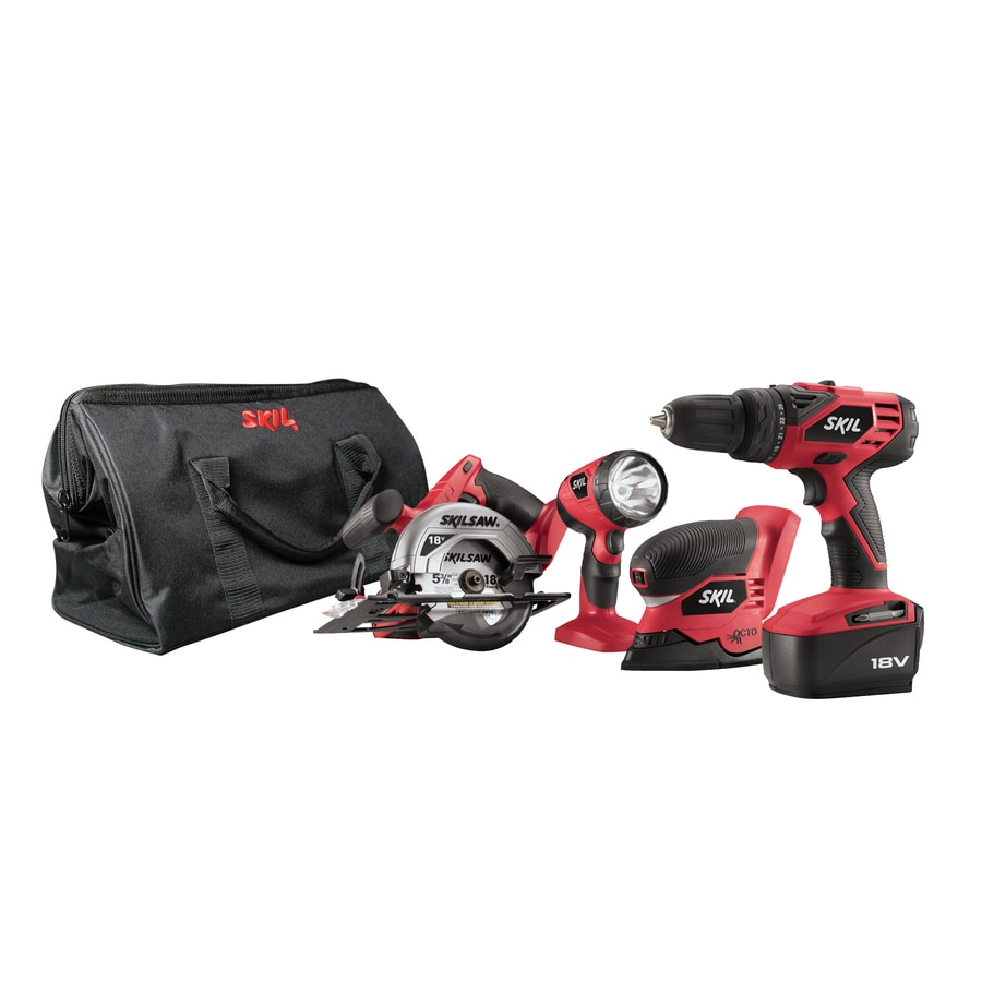 Skil 4-Tool 18-Volt Cordless Combo Kit with Case