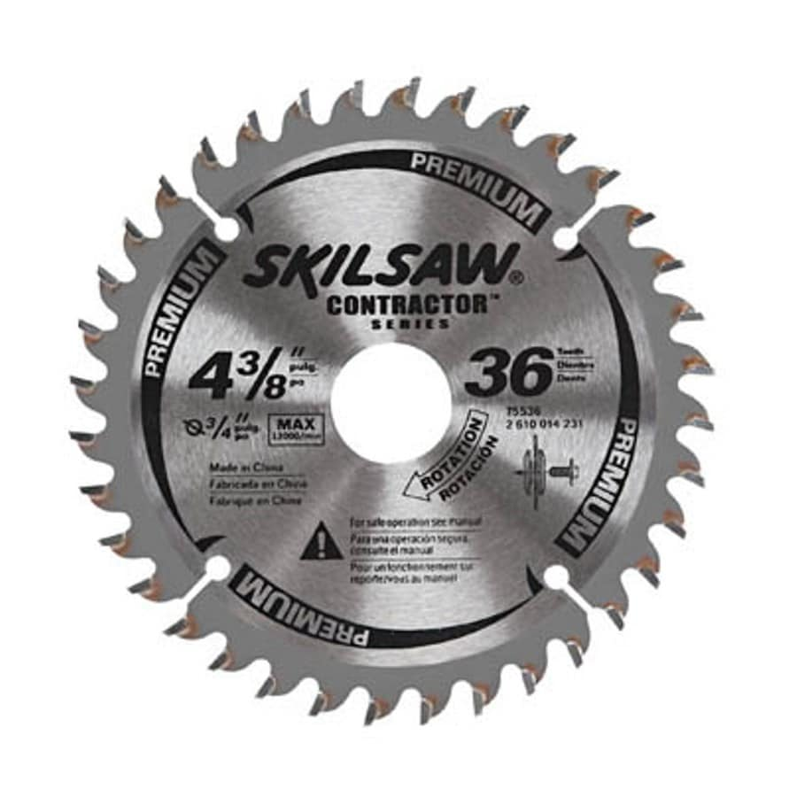 Shop skil 4 38 in 36 tooth carbide circular saw blade at lowes skil 4 38 in 36 tooth carbide circular saw blade greentooth
