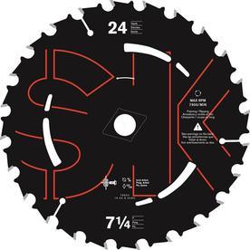 BLADE SAW CIRCULAR 24T 7-1/4IN per 10 CD