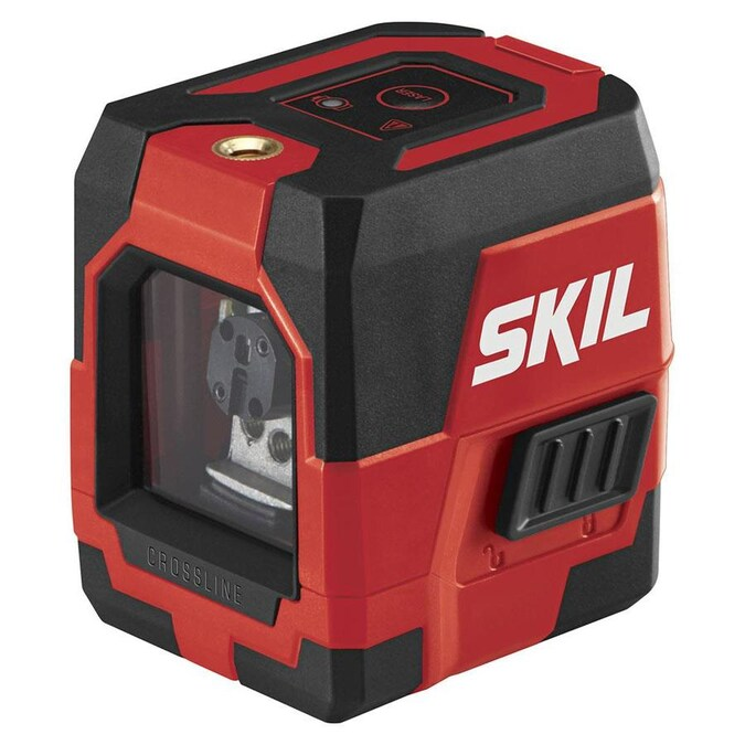 Skil 50 Ft Red Beam Self Leveling Cross Line Cross Laser Level Kit Level And Soft Case In The Laser Levels Department At Lowes Com