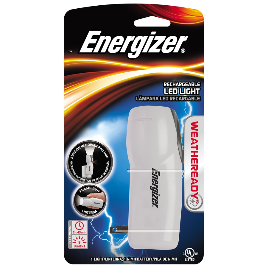 Energizer 25-Lumen LED Weatheready Compact Rechargeable Light