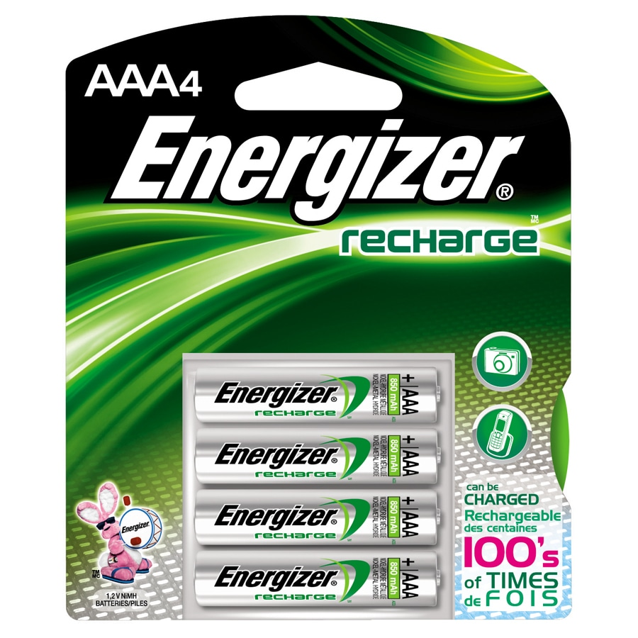 Energizer 4 Pack AAA Rechargeable Nickel Metal Hydride  Nimh  Battery. Shop Batteries at Lowes com