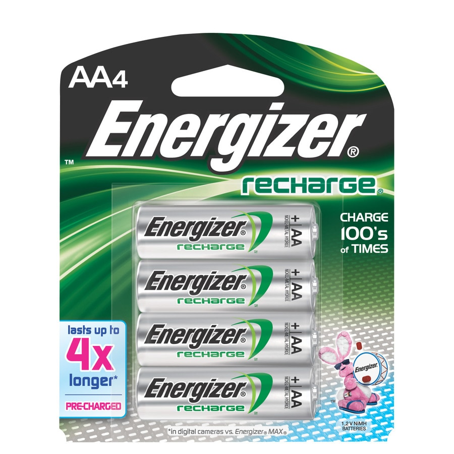 Energizer 4-Pack AA Rechargeable Battery