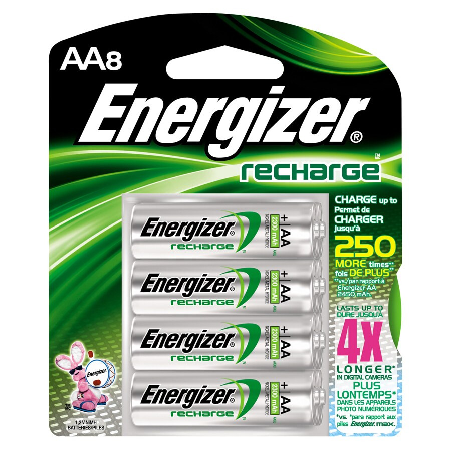 Energizer 8-Pack AA Rechargeable Nickel Metal Hydride (Nimh) Battery