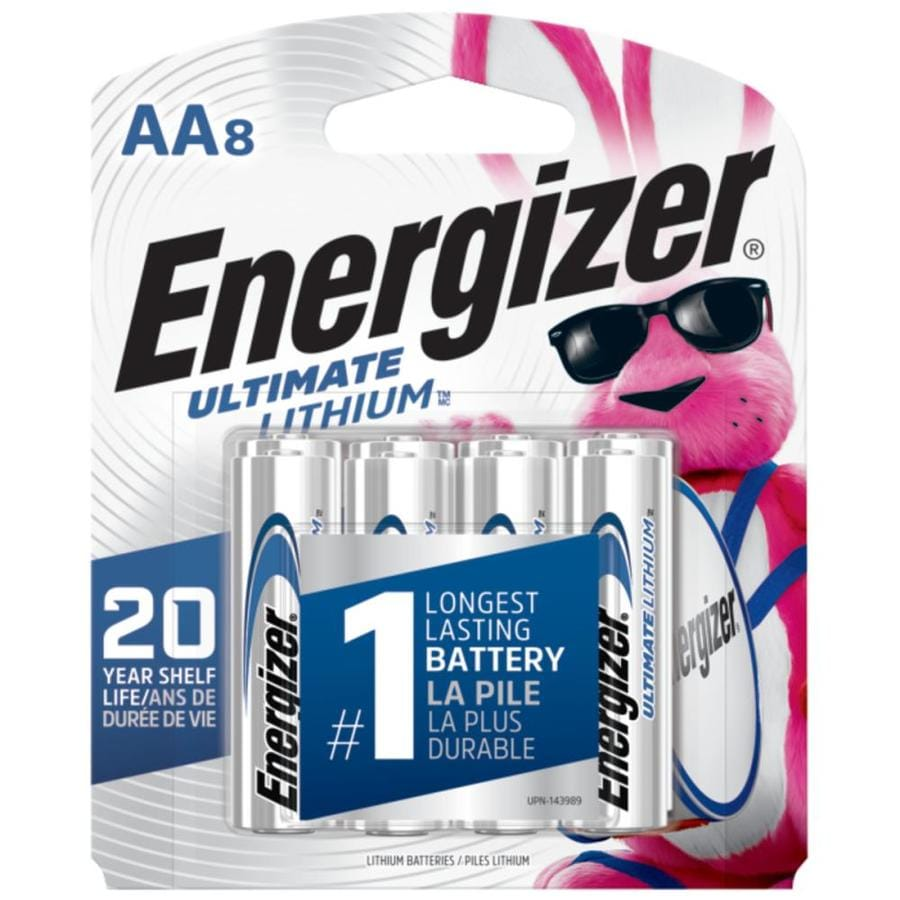 Energizer 8-Pack AA Lithium Batteries