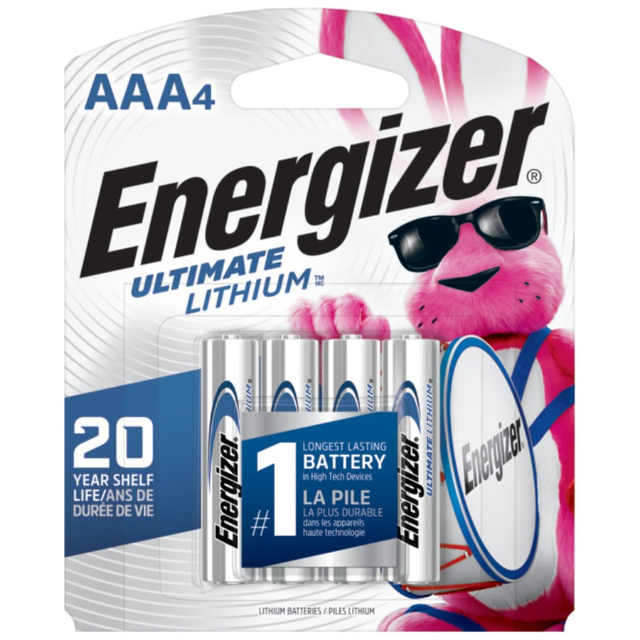 Energizer 4-Pack AAA Lithium Batteries