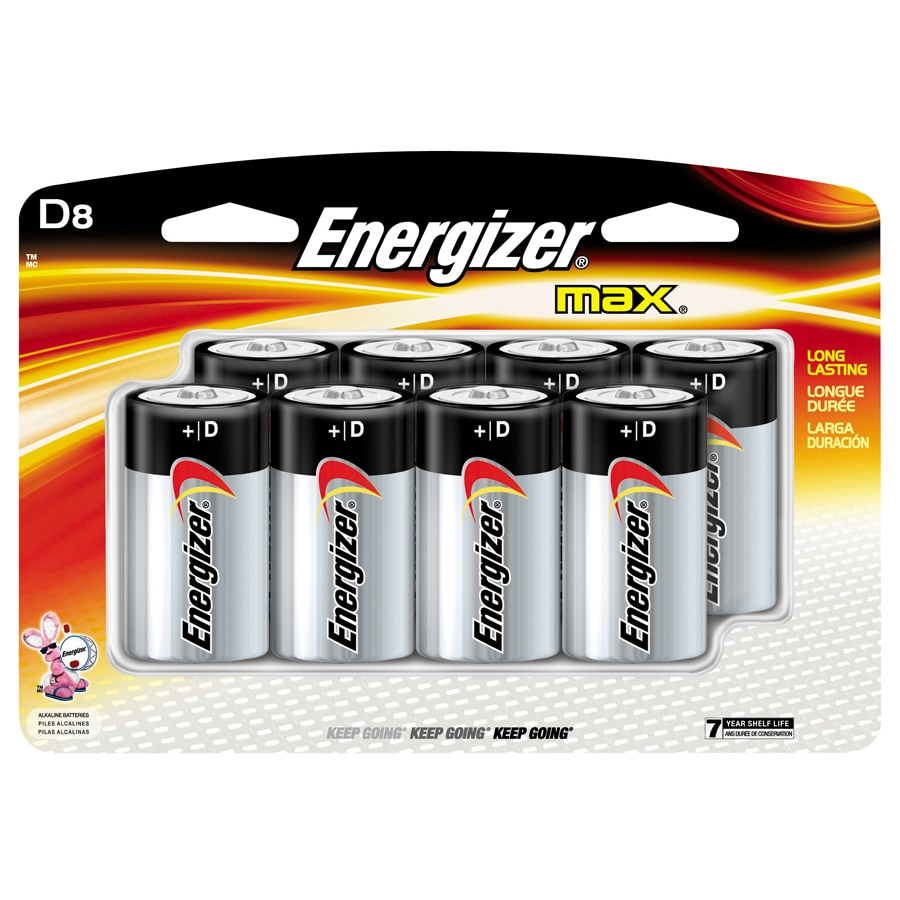 Energizer 8-Pack D Alkaline Battery