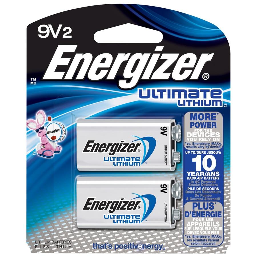 Energizer Lithium 9 Volt Batteries 2 Pack In The 9 Volt Batteries Department At Lowes Com
