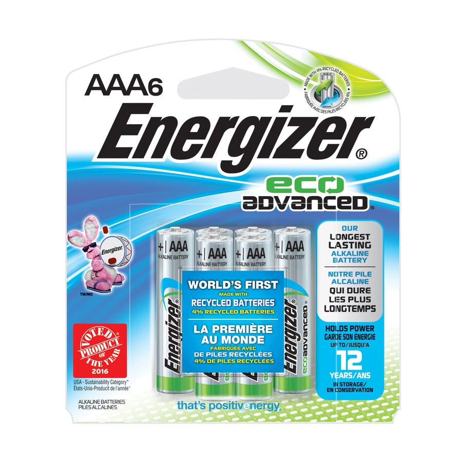 Energizer 6-Pack AAA Alkaline Battery