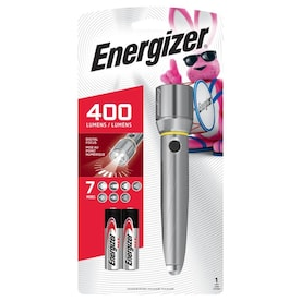 Energizer Vision HD Performance Metal Light 400-Lumen LED Flashlight (Battery Included)