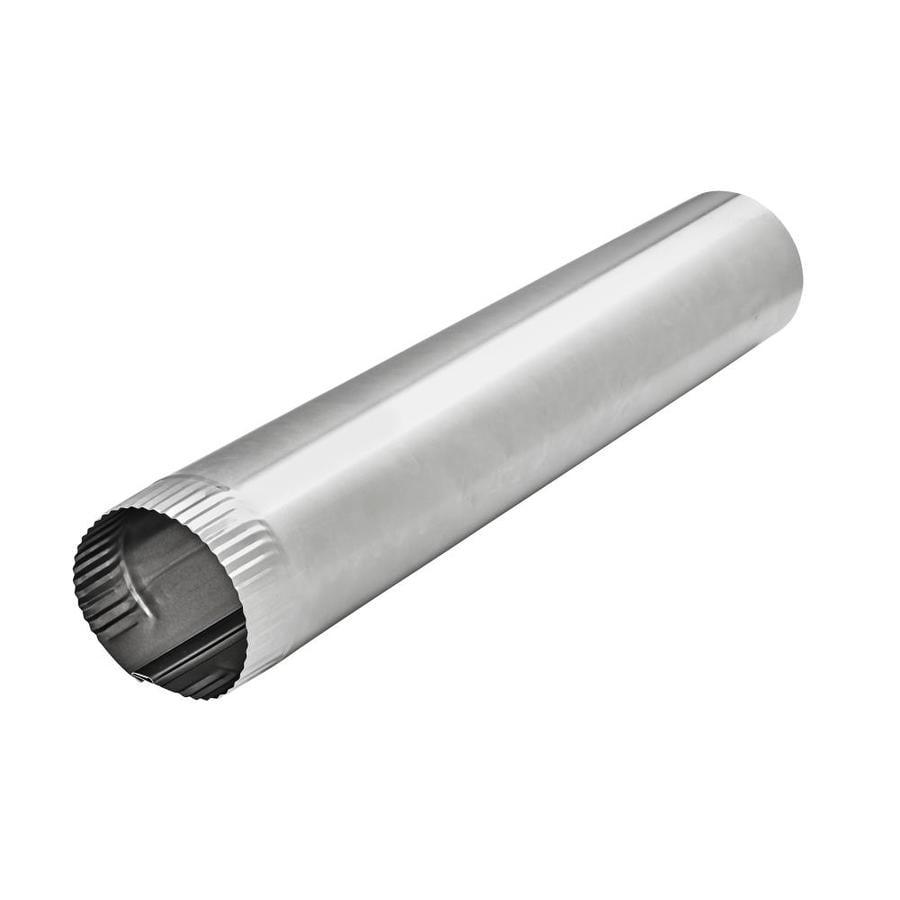 Lambro 4-in x 24-in Aluminum Round Duct Pipe