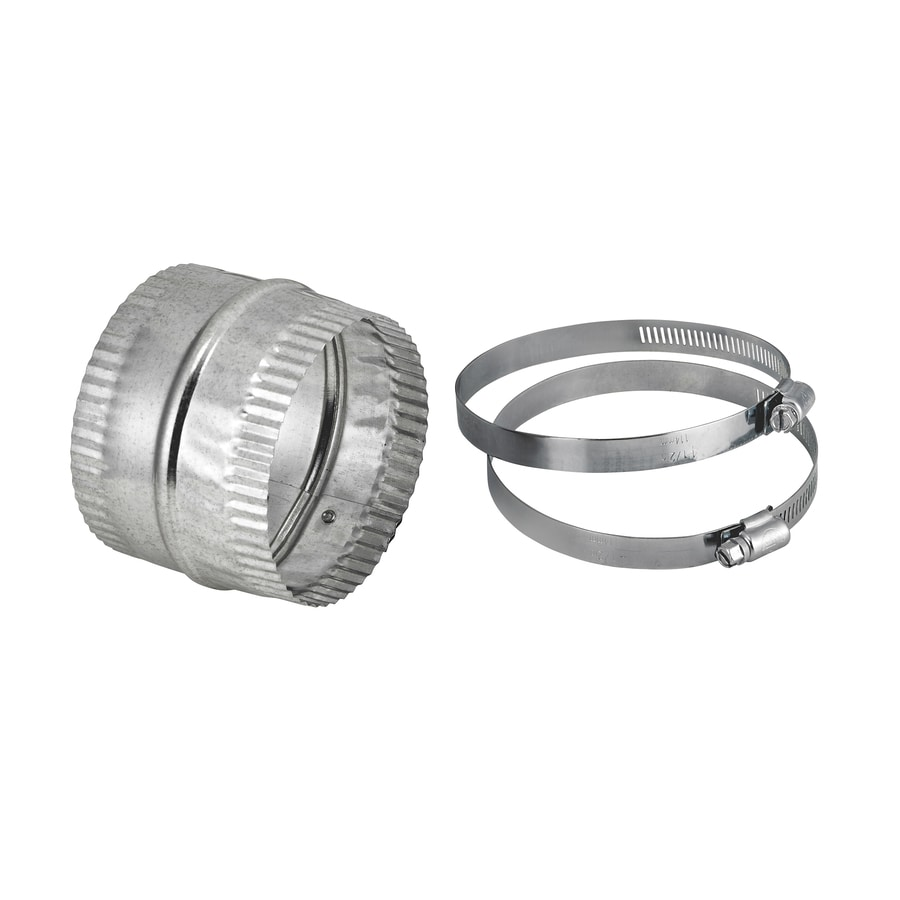 Lambro 4-in Dia Crimped Galvanized Steel Flexible Duct Connector