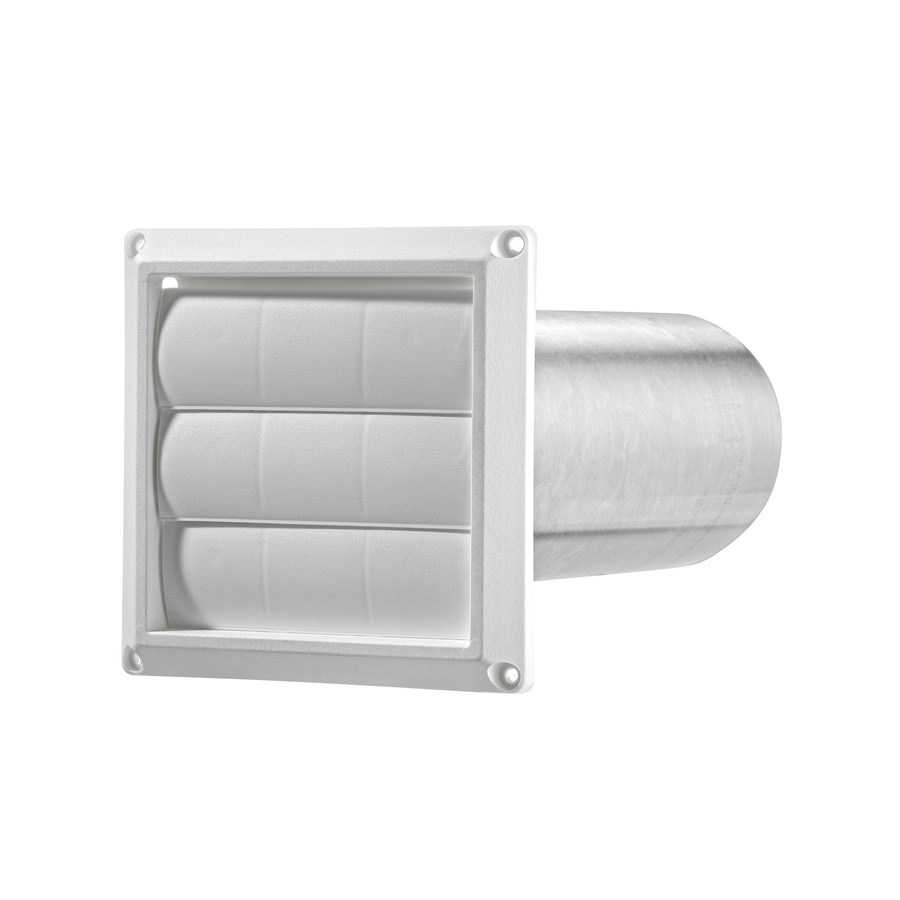 Lambro 4 In Dia Plastic Louvered Dryer Vent Hood At Lowes Com