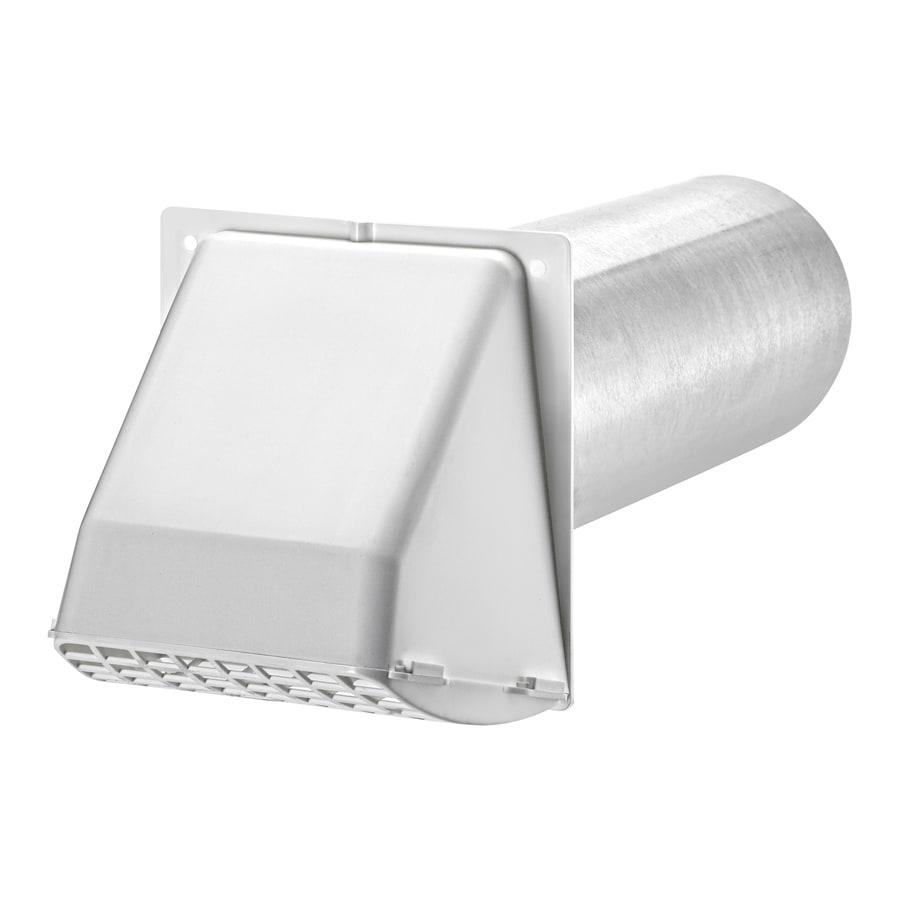 Lambro 4-in Dia Plastic Preferred With Guard Dryer Vent Hood