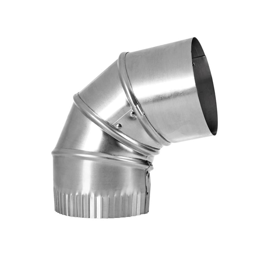 Lambro 4-in x 4-in Aluminum Round Duct Elbow