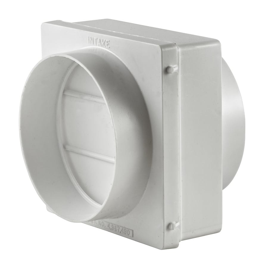 Lambro 4-in Plastic Dryer Vent Draft Blocker