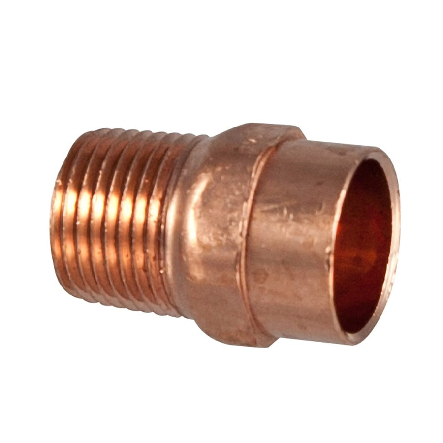 NIBCO 1/2-in x 3/8-in Copper Threaded Adapter Fitting