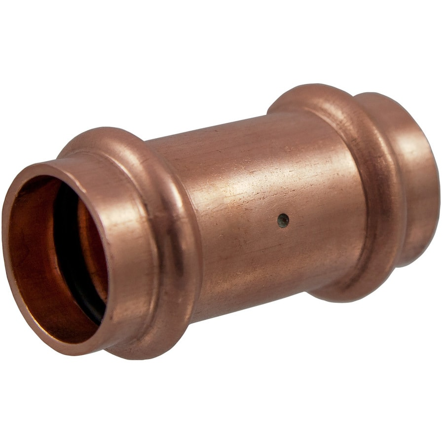 1/2-in x 1/2-in Copper Press-Fit Coupling Fitting