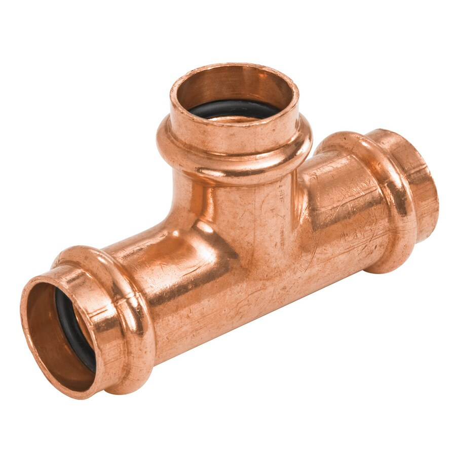 NIBCO 1-in x 1-in x 3/4-in Copper Press-Fit Tee Fitting