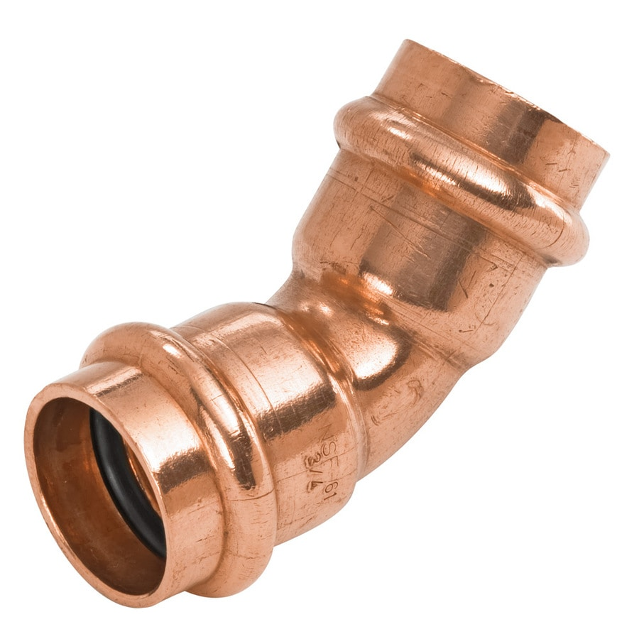 NIBCO 3/4-in x 3/4-in x 45-Degree Copper Press-Fit Elbow Fitting