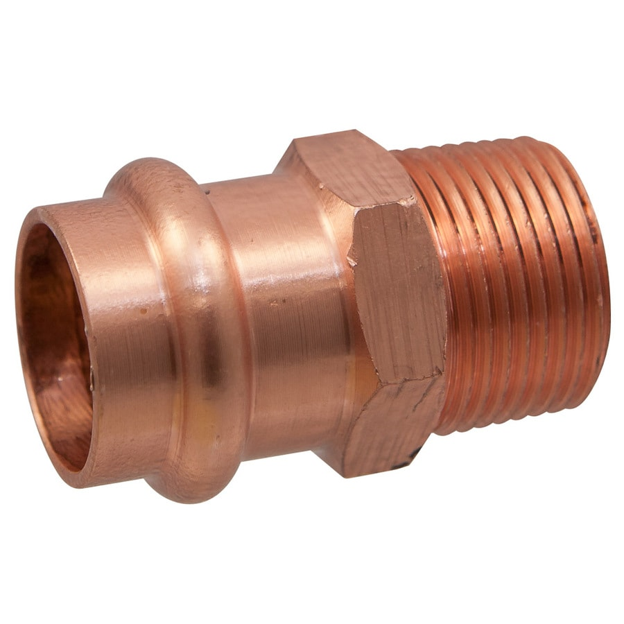 NIBCO 1/2-in x 1/2-in Copper Press-Fit Adapter Fitting