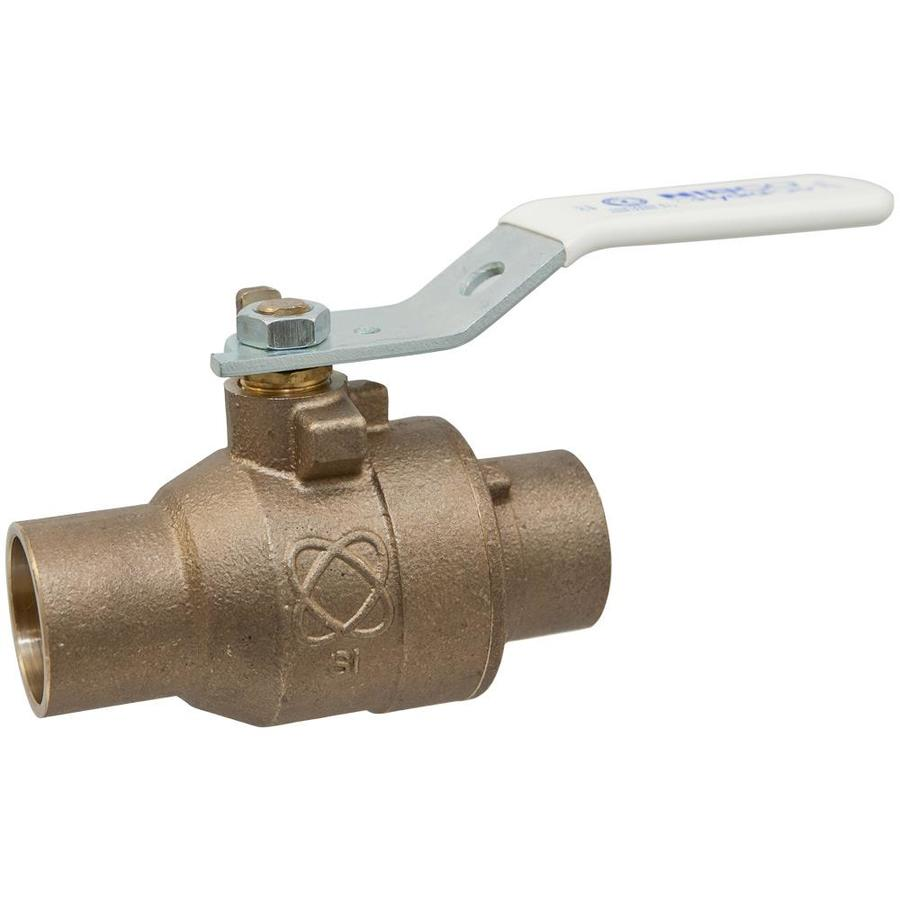 Bronze 1-in Sweat x 1-in Ball Valve