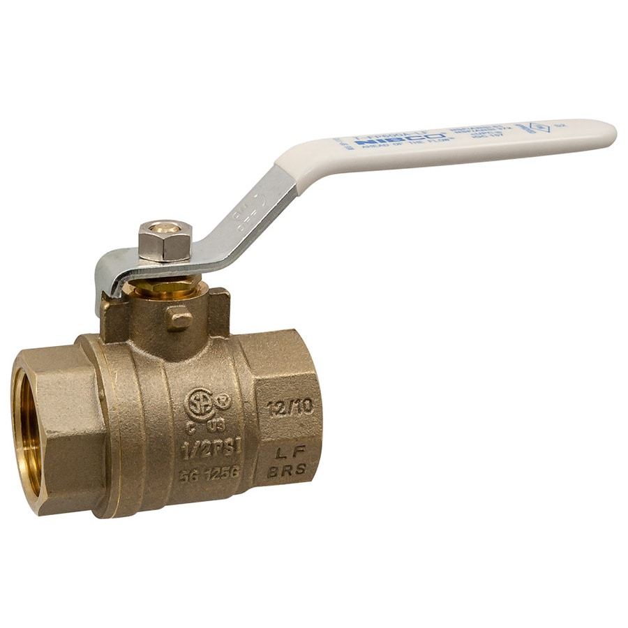 1/2-in Brass Female In-Line Ball Valve