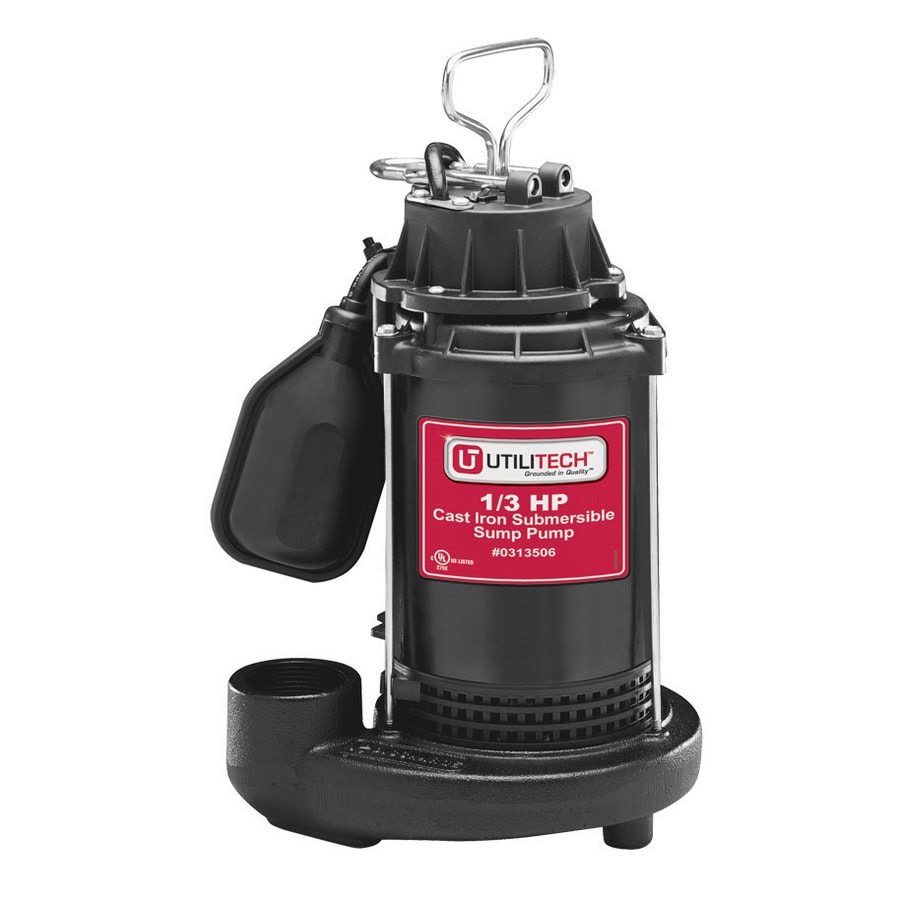 Utilitech 0.33-HP Cast Iron Submersible Sump Pump