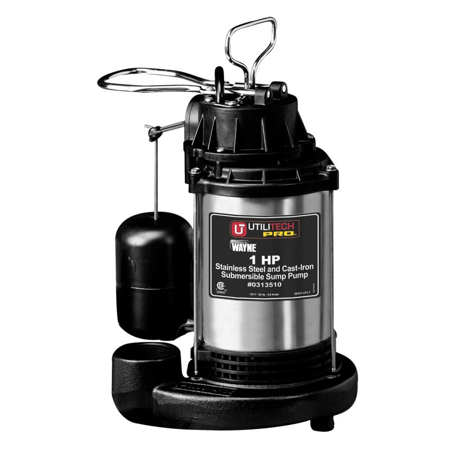 Utilitech 1-HP Stainless Steel 90 GPM Submersible Sump Pump