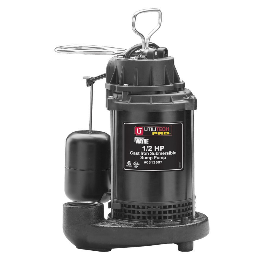 Utilitech 0.5-HP Stainless Steel Submersible Sump Pump