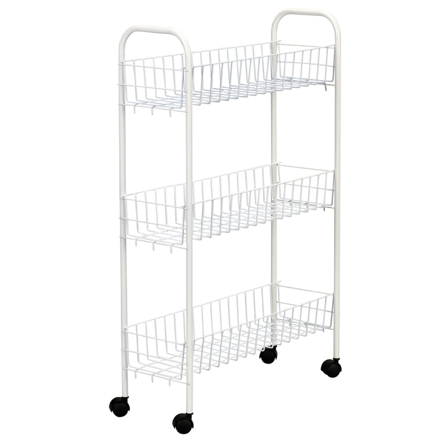 Household Essentials Slimline 3-Shelf Utility Cart