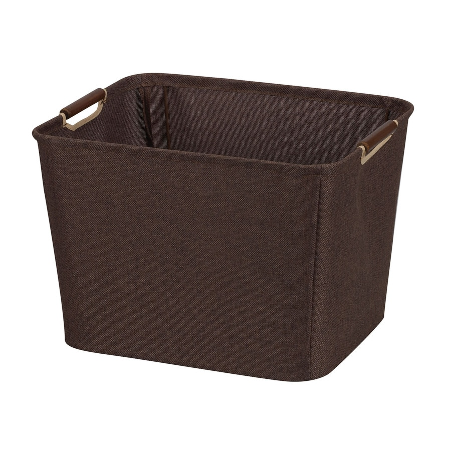 Household Essentials 11-in W x 15.75-in H x 13-in D Coffee Fabric Bin
