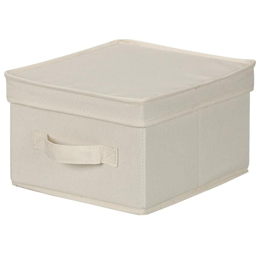 Household Essentials 6-in W x 10-in H x 11-in D Natural Fabric Bin
