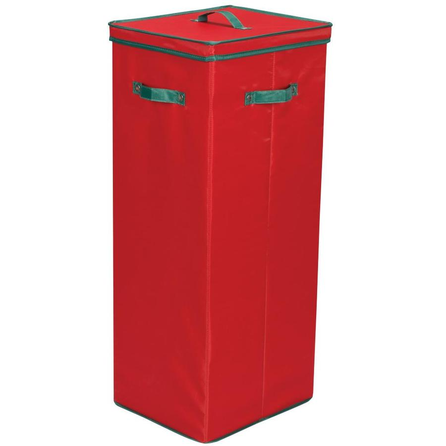 Household Essentials 32-in W x 11-in H x 13-in D Red with Green Trim Fabric Bin