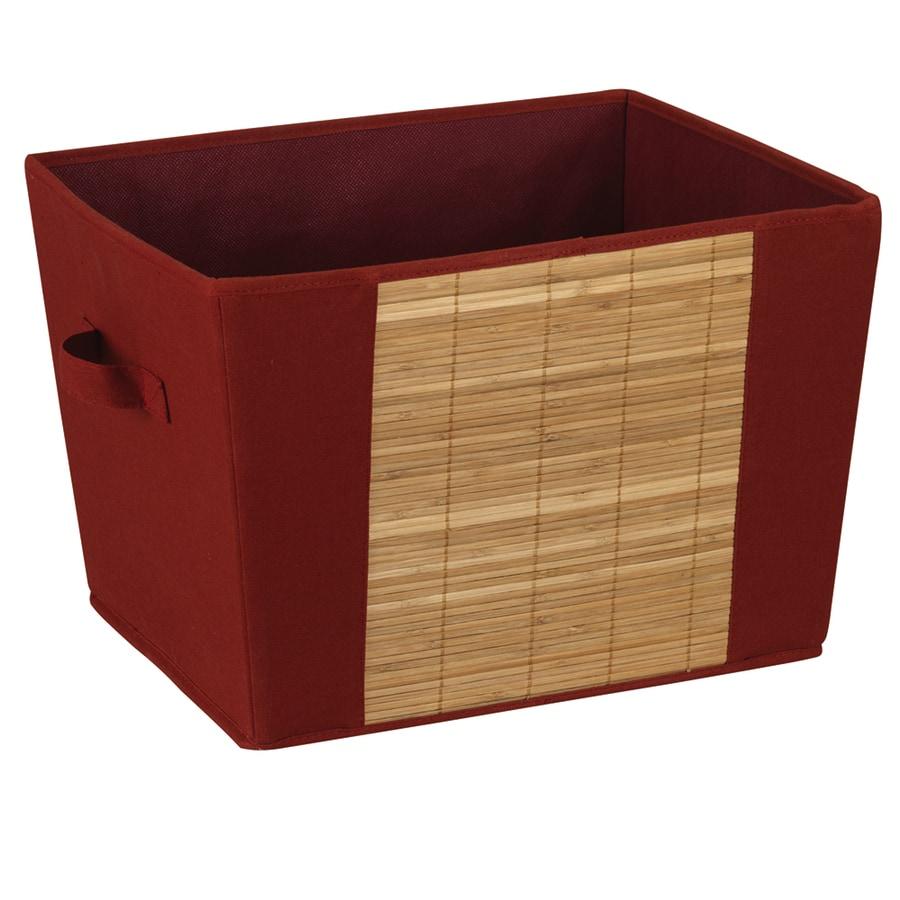 Household Essentials 11.25-in W x 15.75-in H x 12.5-in D Brick Fabric Bin