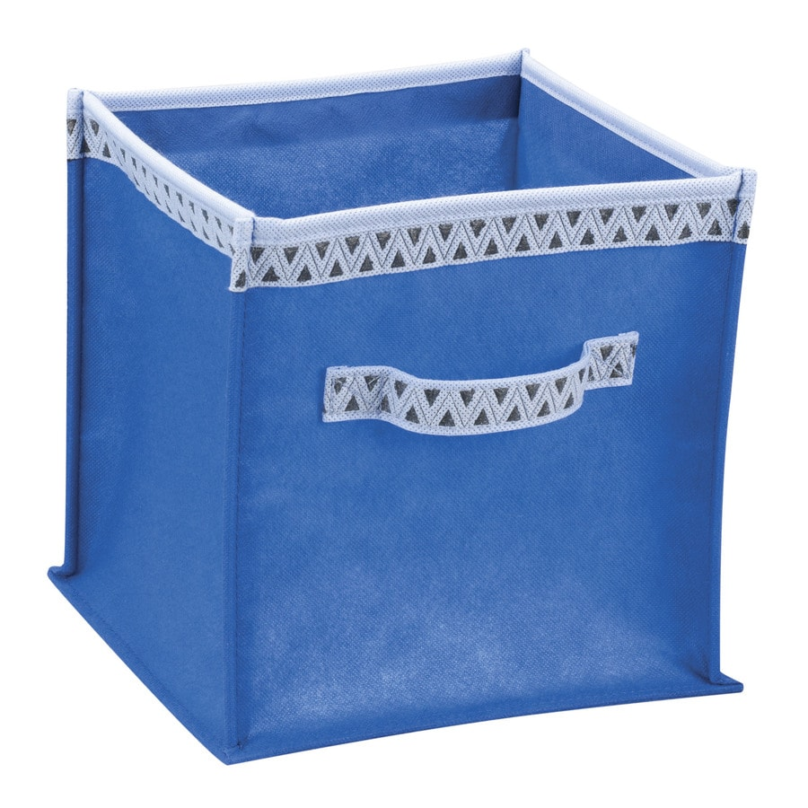Household Essentials 10-in W x 10-in H x 10-in D Royal Fabric Bin