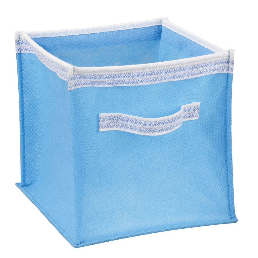 Household Essentials 10-in W x 10-in H x 10-in D Aqua Fabric Bin