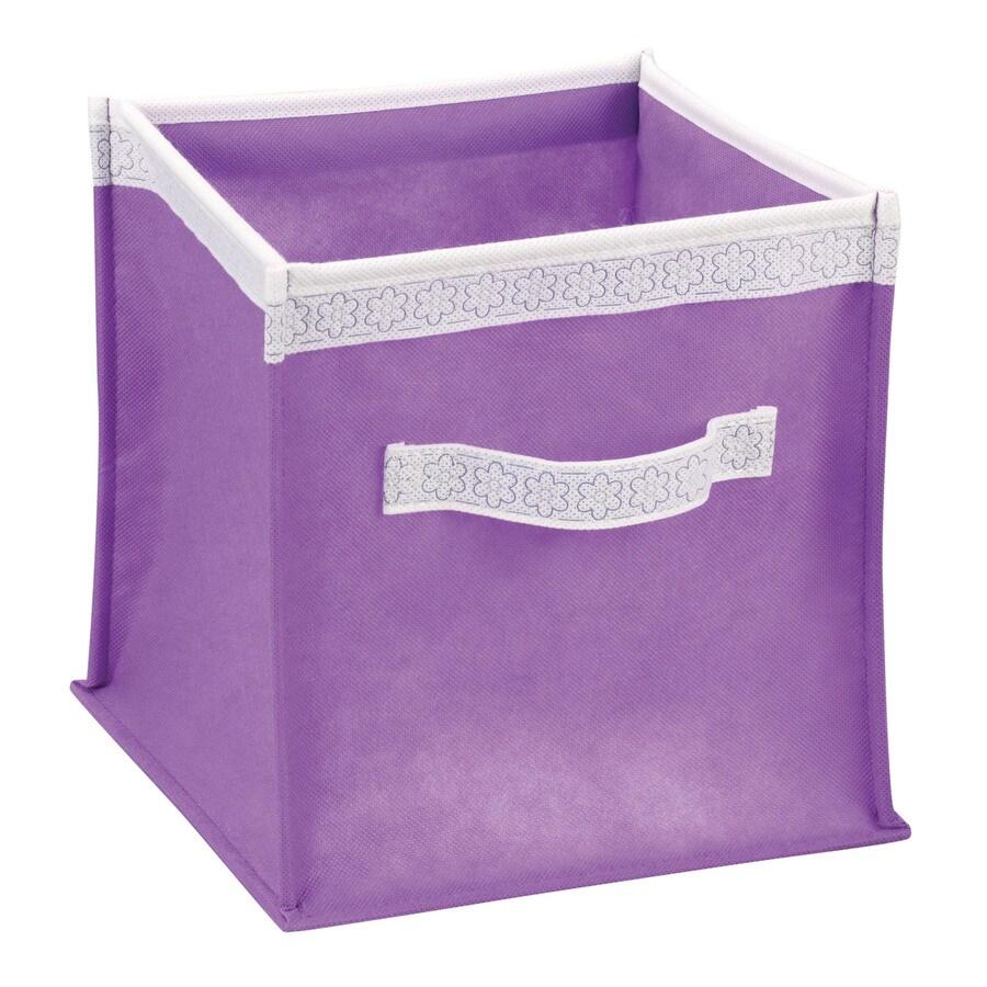 Household Essentials 10-in W x 10-in H x 10-in D Purple Fabric Bin