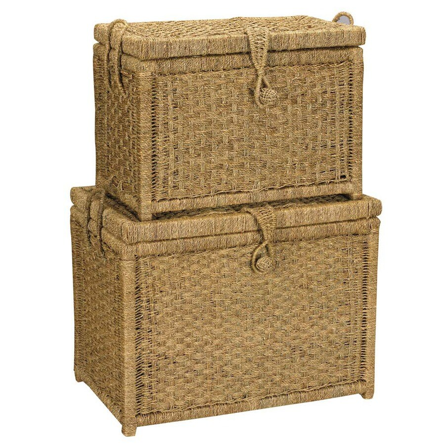 Household Essentials 1-Piece Natural Metal Storage Trunk