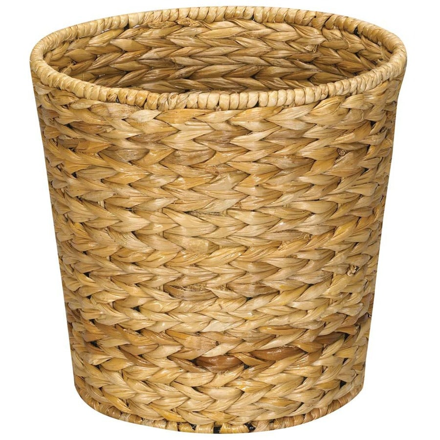 Household Essentials Natural Mixed Material Wastebasket