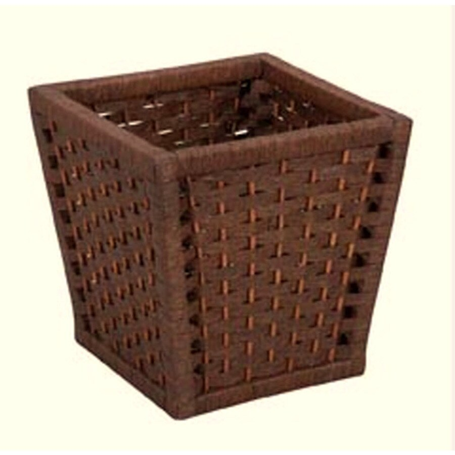 Household Essentials Brown Mixed Material Wastebasket