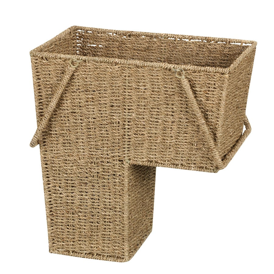 Household Essentials 16-in W x 10-in D Stairstep Basket