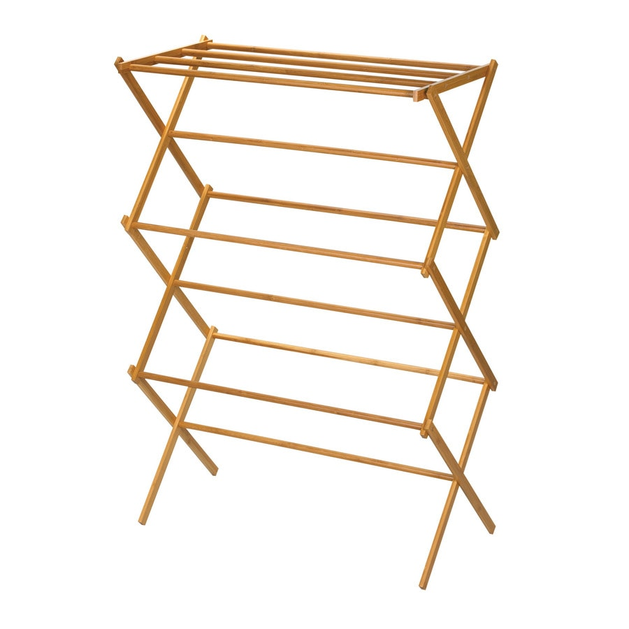 Household Essentials 7-Tier Wood Drying Rack