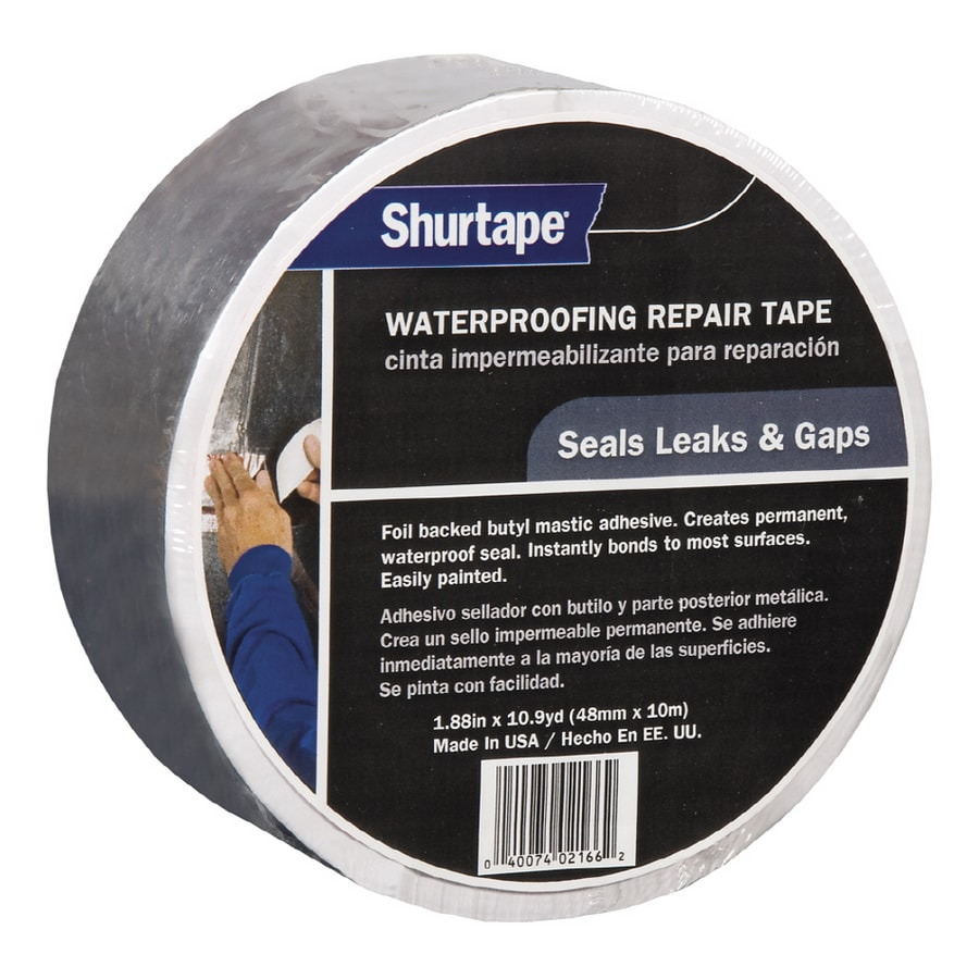 Shop Shurtape 1.88-in x 33-ft Silver Waterproofing Repair Tape at ...