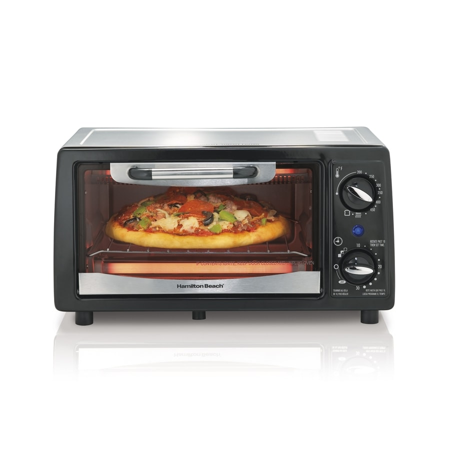 Hamilton Beach 4-Slice Black Toaster Oven with Auto Shut-Off