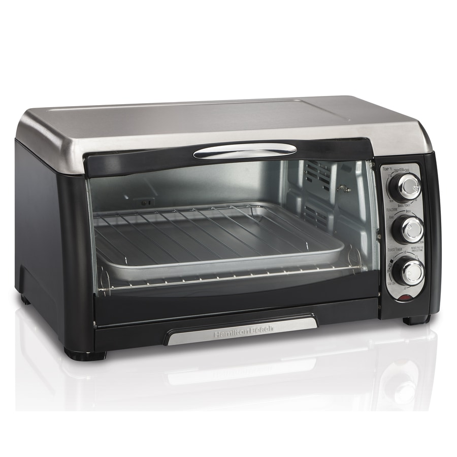 Shop Hamilton Beach 6 Slice Gray Convection Toaster Oven With Auto Shut Off At
