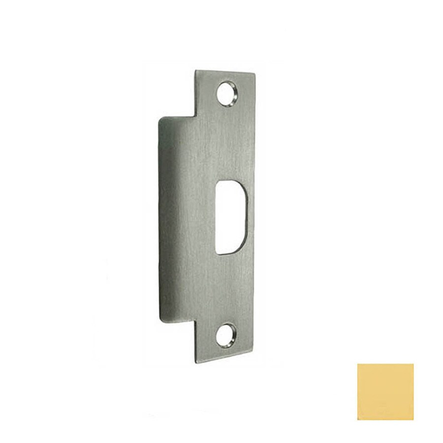 Shop Don Jo Brass Entry Door Commercial Strike Plate At Lowesforpros