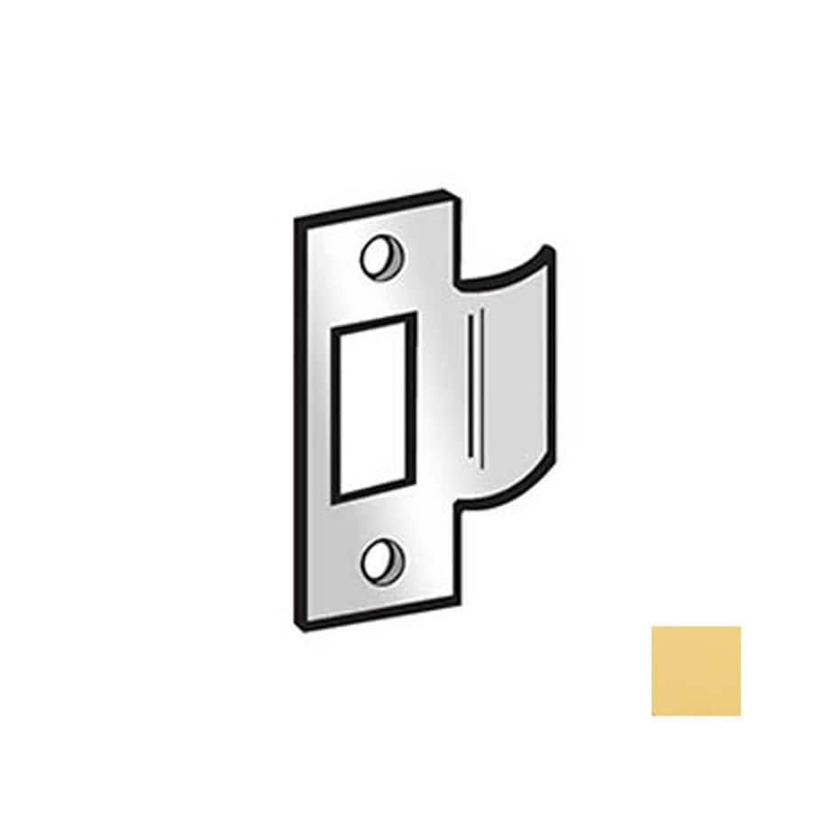 DON-JO Brass Entry Door Standard T Strike Plate